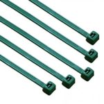 South Main Hardware 848144 8-in 100-Pack, 75-lb, Dark Green, Standard Nylon Cable Tie, 100 Piece