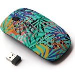 Ergonomic Optical 2.4G Wireless Mouse – Tropical Jungle Palm