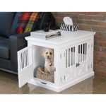 zoovilla PTH0662020110 Triple Door Dog Crate, Medium, White