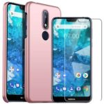 Nokia 7.1 case with Nokia 7.1 Screen Protector, MYLB-US [2 in 1] [Anti-Drop] Premium Slim case Phone case Back Cover for Nokia 7.1 (Pink)