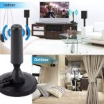 Accreate Practical High Definition Digital Freeview Indoor TV Antenna Aerial Ariel with Magnetic Base