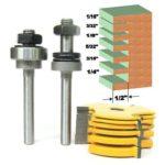 8pc 1/4″ Shank Slot ,Assembly 6 cutters & 2 arbors Router Bit Set sct-888