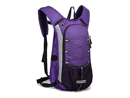 Pullic Comfortable Lightweight Hiking Rucksack Breathable Bike Bags Great for Men & Women Outdoor Sports Small Backpacks for Fitness Running Biking Skiing Biking Trekking Travelling(Purple)