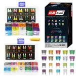 GBAuto Blade Car Fuses Assortment Kit 230PCS –Standard & Mini (2A/3A/5A/7.5A/10A/15A/20A/25A/30A/35A) ATO/APR / ATC Fuse Car Kit Assorted Auto Truck Boat Truck SUV Automotive Replacement Fuses Puller