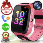 Kids Smart Watch GPS Tracker – Kids Phone Smartwatch Girls Boys with Game Fitness Tracker SOS Camera Anti-Lost Alarm Clock Children Wristband Bracelet Outdoor 2019 New Year Holiday Birthday Gift