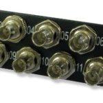 Lynn Electronics 12 Fiber ST Singlemode Adapter Strip, 12 Simplex ST Ports, LGX Footprint