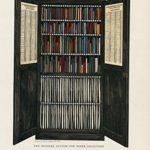 Cathedral interior Munder paper filing system 1927 vintage colorful print