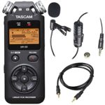 Tascam DR-05 (Version 2) Portable Handheld Digital Audio Recorder (Black) with Deluxe accessory bundle