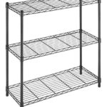 Whitmor Supreme 3 Tier Shelving with Adjustable Shelves and Leveling Feet – Black