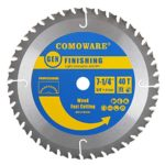 COMOWARE Circular Finishing Saw Blade- 7-1/4-Inch 40 Tooth TCG – Premium Tip, Anti-vibration, 5/8inch Arbor Light Contractor and DIY General Purpose for Wood, Laminate, Veneered Plywood & Hardwoods