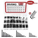 M2 M3 M4 12.9 Grade Alloy Steel Socket Head Cap Screws Kit, 1080 Pieces Hex Head Bolt Nuts Washers Assortment Kit with Storage Box