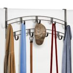 Lynk Over Door Accessory Holder – Scarf, Belt, Hat, Jewelry Hanger – 9 Hook Organizer Rack – Bronze