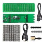 Nobsound 16×16 LED Audio Spectrum Level Indicator VU Meters Music Display Screen Analyzer for Amplifiers (DIY Kit)