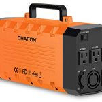 CHAFON 346WH Portable Power Station Generator,UPS Lithium Battery Backup,Pure Sinewave 110V/500W Triple AC Outlet 12V DC,USB Output for CPAP Camping Travel Emergency-Orange