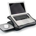 MAX SMART Laptop Lap Pad Laptop Stand with Attached Mouse Pad, Cushion and USB Fan Cooling, Non-Slip Heat Shield Tablet Computer Stand for Sturdy Work Station for Home, Office, Bed Sofa, Couch and Car
